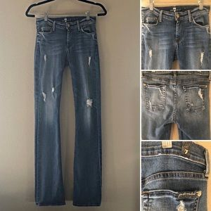 7 for All Mankind Distressed The Skinny Bootcut 26